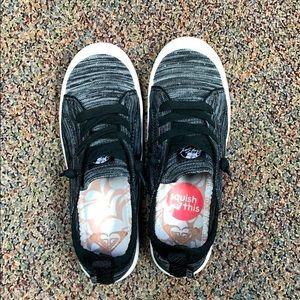 Roxy bayshore knit black gray shoes. Size 6
